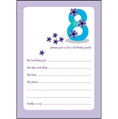 printable birthday invitations for 14 year olds 40th birthday ideas 10 year old birthday invitation templates