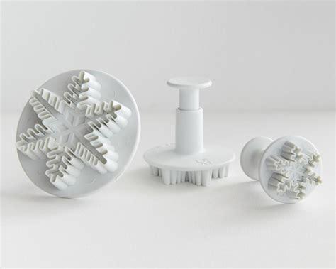 Plunger Cutter Snowflake snowflake plunger cutter set of 3 cakegirls