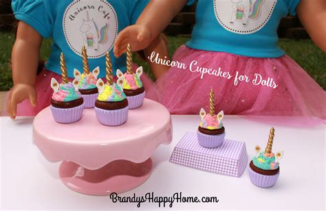doll unicorn unicorn cupcakes for dolls