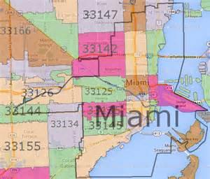 miami zip code map images
