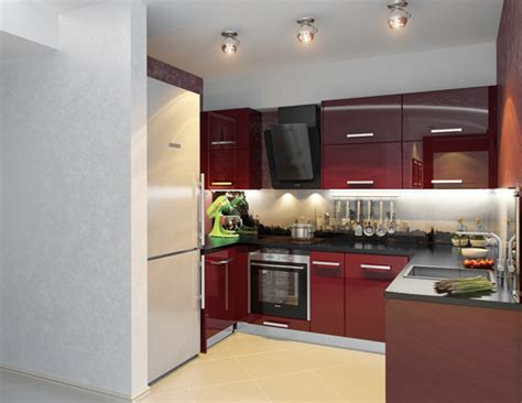 contemporary kitchen decorating ideas kitchen decorating idea small modern kitchen in red