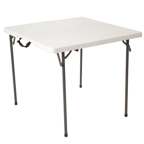 Lifetime Folding Table by Lifetime 34 In White Granite Square Fold In Half Table