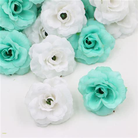 Per Unas Silk Floral Handbag by 100pcs White Blue Beautiful Silk Artificial