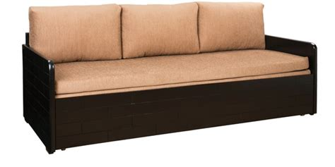 kids sofa cum bed buy ace sofa cum bed with storage in dusty brown colour by