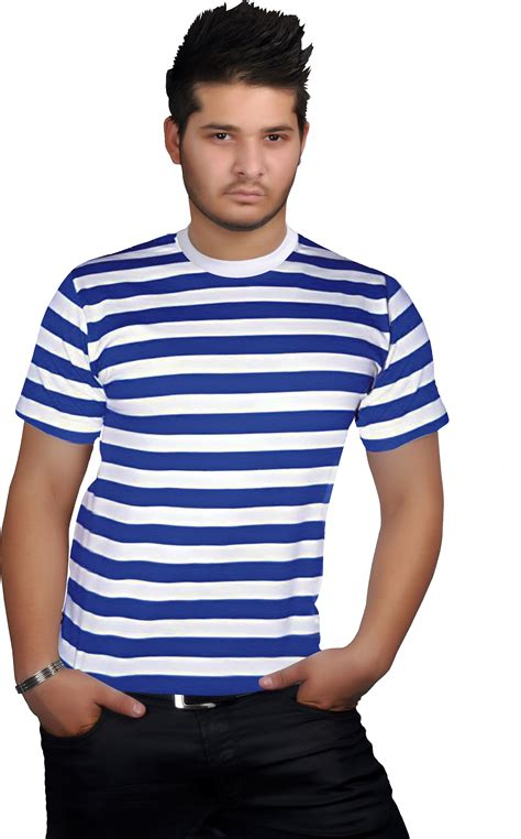 S S T Shirt With Stripe blue white stripe t shirt