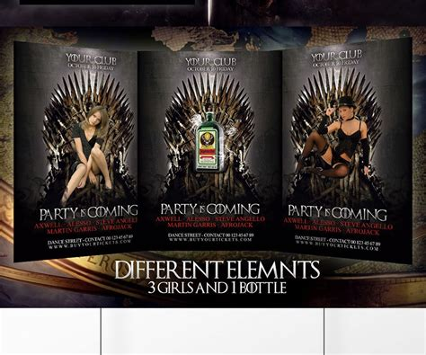 Game Of Thrones Flyer Psd Graphicfy Of Thrones Photoshop Template
