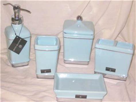 Hotel Balfour Bathroom Accessories 6 Hotel Balfour Light Blue Bathroom Accessory Set Dispenser Dish Cup Jar Holder Ebay
