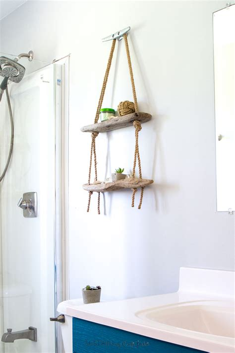 Driftwood Vase Diy Hanging Shelf With Driftwood Sustain My Craft Habit