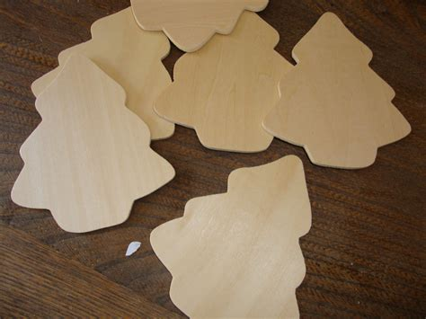wood christmas trees unfinished wood cut outs mini christmas
