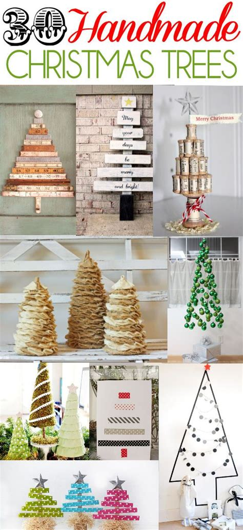 stop and shop xmas trees a roundup of 30 handmade trees on lilluna the one stop diy shop