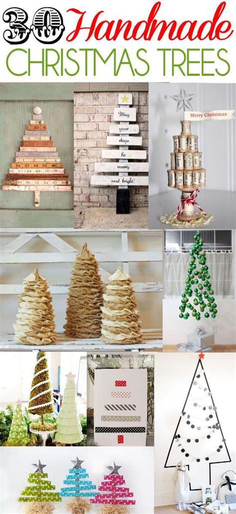 a roundup of 30 handmade christmas trees on lilluna com