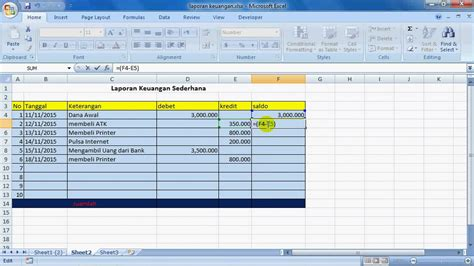 cara membuat layout bangunan membuat laporan keuangan sederhana youtube
