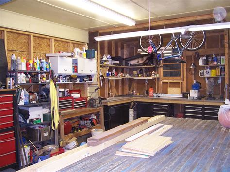 workshop interior layout unfinished small spaces garage remodel design with black