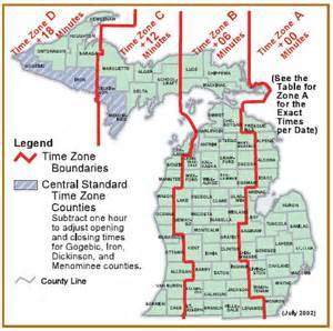 Michigan Time Zone Map by Michigan Time Zone Map My Blog