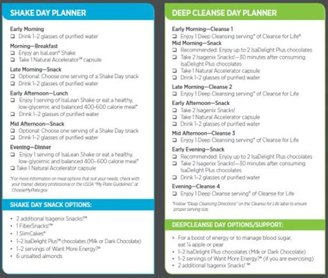 Detox Shake Program by Isagenix Cleanse Schedule Nutritional Cleansing
