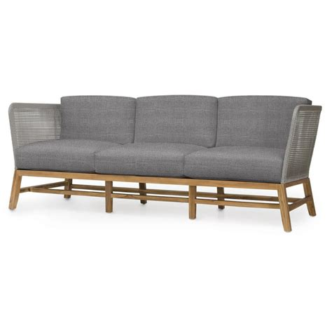 grey outdoor sofa serena modern grey rope woven teak outdoor sofa grey