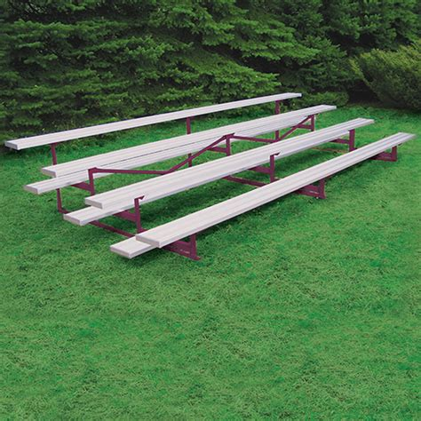 aluminum sport benches 4 row 27 powder coated bleacher blch 427pc benches