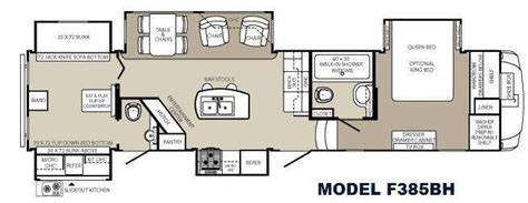 fifth wheel bunkhouse floor plans 5th wheel bunkhouse floor plans floorplan travel