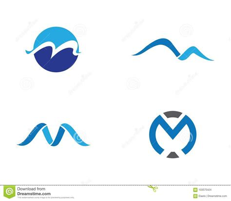 m m logo template m letter logo business template illustration stock