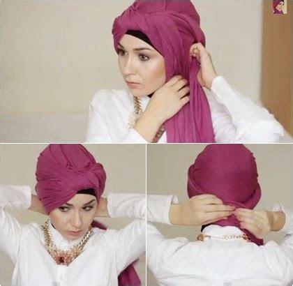 tutorial hijab turban 3 warna tutorial hijab semi turban menggunakan scarf panjang yang