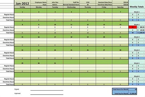 8 excel timesheet template timeline template