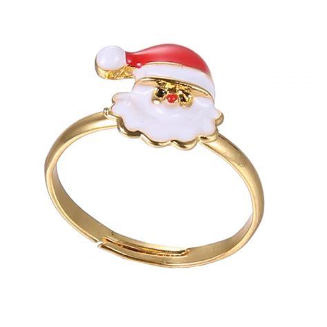 handmade rings christmas santa claus tree snowman lucky