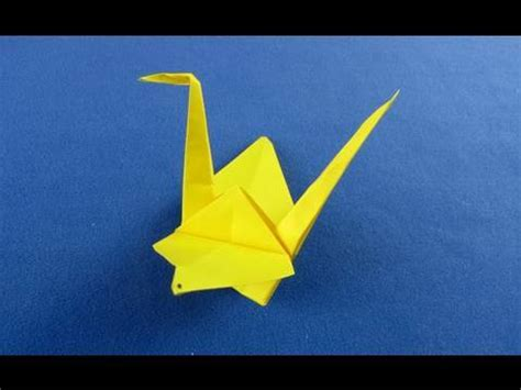 Japanese Origami Swan - cigno origami how to make a paper japanese crane origami