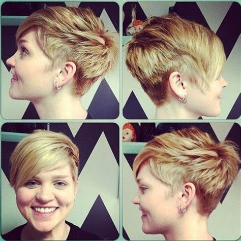 haircuts hours cool short layered pixie cut with long side swept bangs