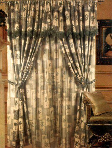 palm tree sheer curtains 15 must see tropical curtains pins tropical bathroom