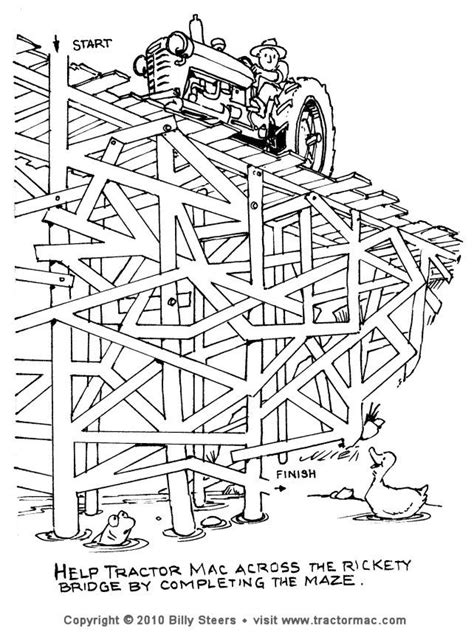 Printable Tractor Mazes | farm tractor puzzle you can print out and play with