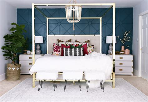 are accent walls still in style 2017 master bedroom makeover with awesome accent wall classy