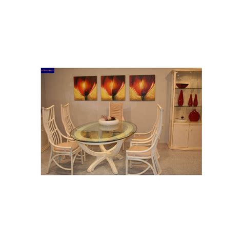 Pied De Table A Manger 1346 by Table En Rotin Ovale