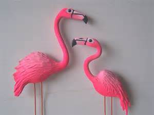 pink flamingo sculpture wall decor by artistjp on etsy