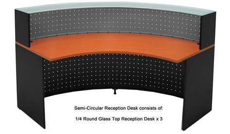 Semi Circle Reception Desk Semi Circular Glass Top Reception Desk