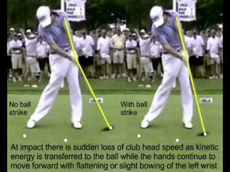 golf swing wrists discussion re the flat left wrist at impact in the golf