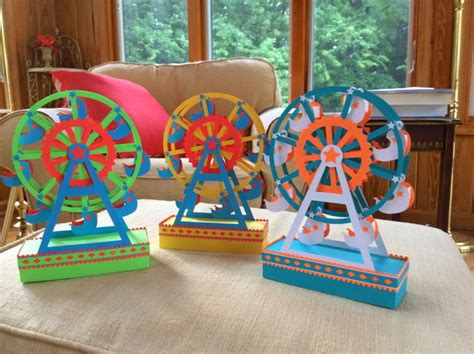 How To Make Paper Wheels - ferris wheel free papercraft template