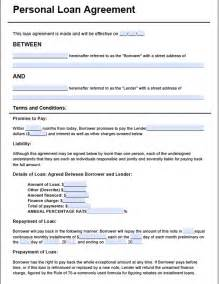 Personal Loan Contract Template Free loan agreement template3 for free tidyform