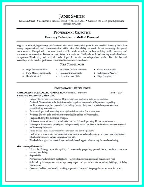 resume objective exles technician what objectives to mention in certified pharmacy technician resume