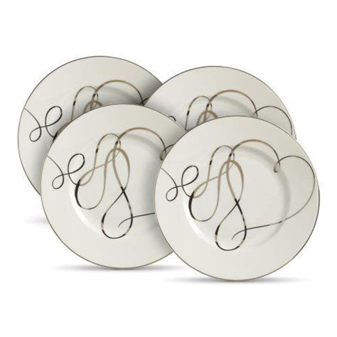 Heart Pattern Crockery | mikasa love story set of four heart accent plates by