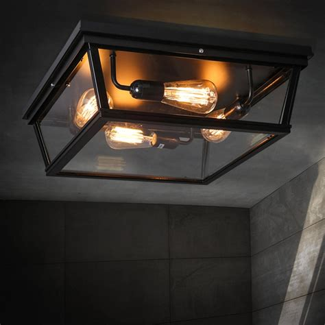 Style Lighting Ceiling by Loft Square Outdoor Ceiling Lights Industrial Iron Craft Trunk Shaped Country Style Ceiling