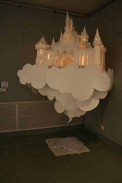 How To Make 3d Clouds Out Of Paper - lit paper castle in the clouds decorations juxtapost