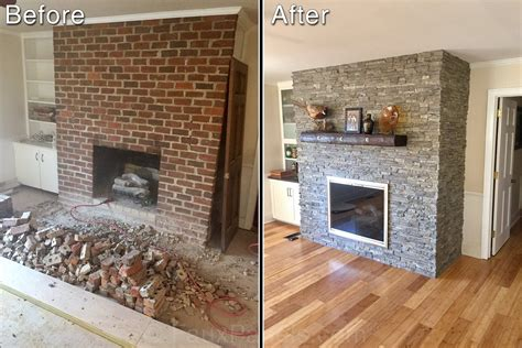 how to stone a fireplace how to resurface a fireplace quickly easily creative