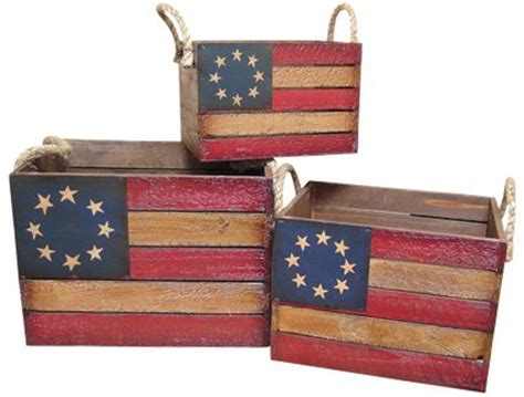americana home decor catalogs prim americana betsy ross wooden crates the red white blue pinterest personalized baby