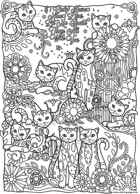 coloring page adult adult cats cutes coloring pages printable