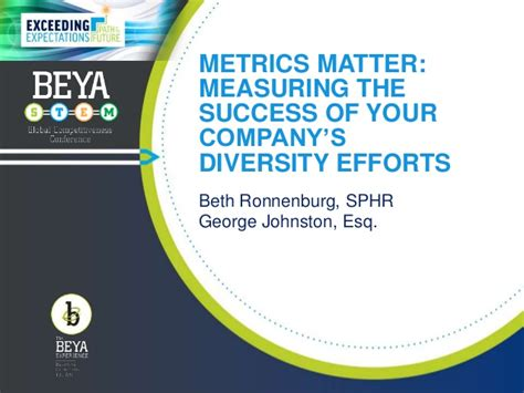 metrics matter metrics matter measuring the success of your company s