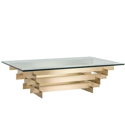 Stacked Coffee Table Solid Brass Stacked Coffee Table By David Hicks At 1stdibs