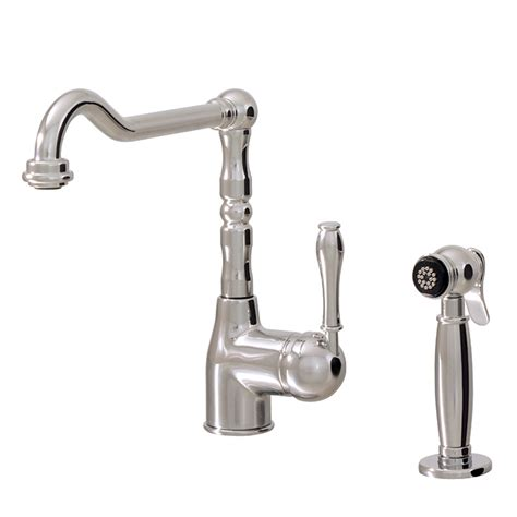 aquabrass kitchen faucets dual mode kitchen faucet with side spray aquabrass