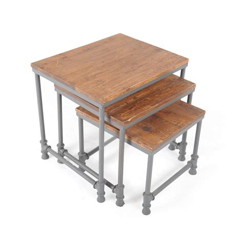 Industrial nesting tables   iStage Homes