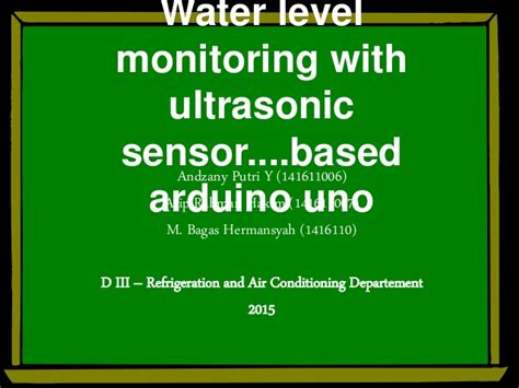 New Alat Sensor Uang Paling Top 1 water level monitoring with sensor ultrasonic