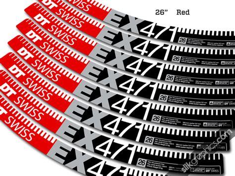 Felgenaufkleber Dt Swiss by Dt Swiss Ex 471 Style Decal Kit Slik Graphics